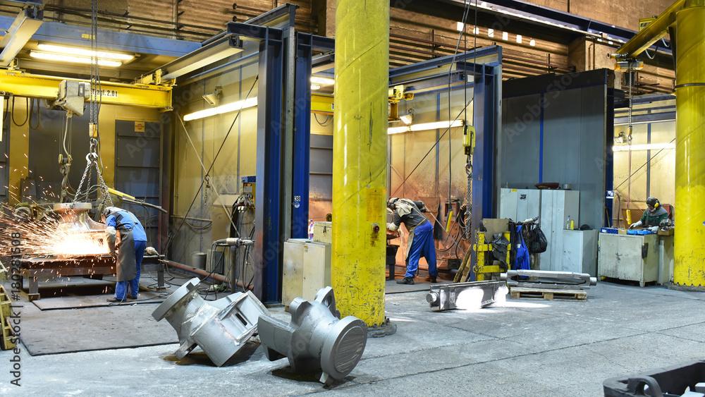 Fototapeta Arbeiter in der Schwerindustrie