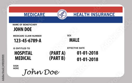 Fotografie, Obraz  Medicare health insurance card