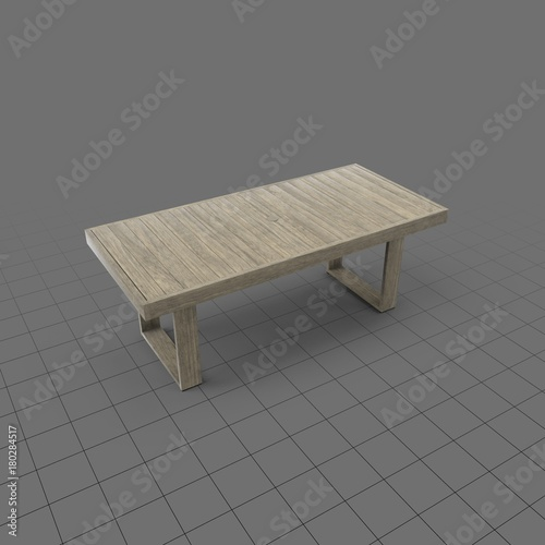 Rectangular Reclaimed Wood Patio Table