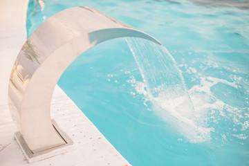 swimming pool water stream splash