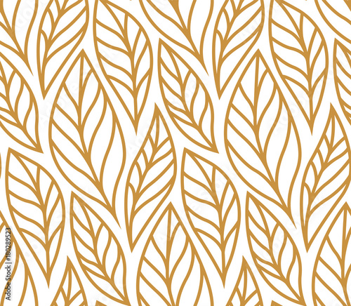 vector-illustration-of-leaves-seamless-pattern-floral-organic-background-hand-drawn-leaf-texture