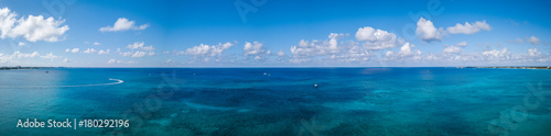 panorama view of the tropical paradise of the cayman islands in the caribbean sea © Andy Morehouse