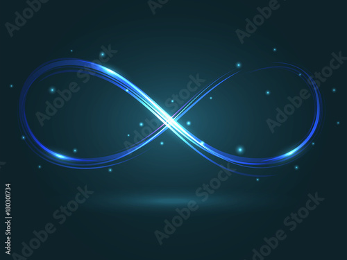 Obraz Vector illustration with the sign of infinity - fototapety do salonu