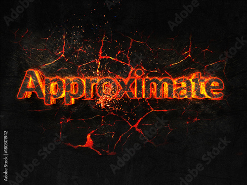 Approximate Fire text flame burning hot lava explosion background Wallpaper Mural