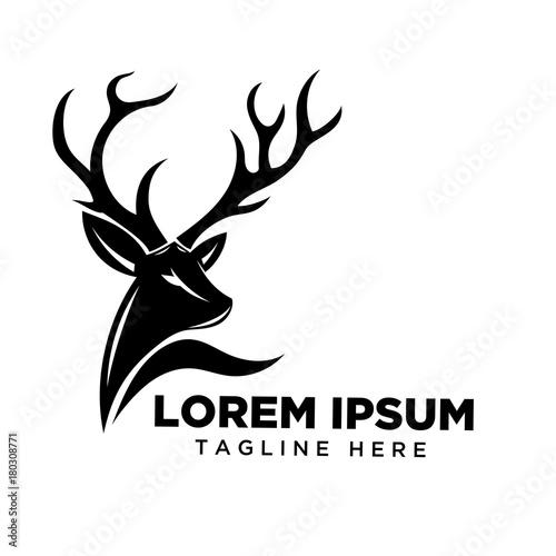 Fotografie, Obraz  Head Deer logo