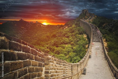 Deurstickers Chinese Muur great Chinese wall