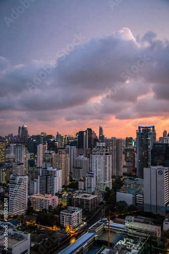 Canvas Prints New York Views of Bangkok by night