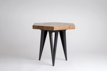 Modern Wooden Stool With Hexag...