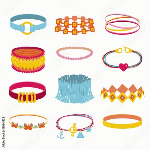 Fotografía  Vector collection of  accessories