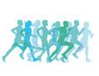 eine Gruppe von Läufern laufen zusammen