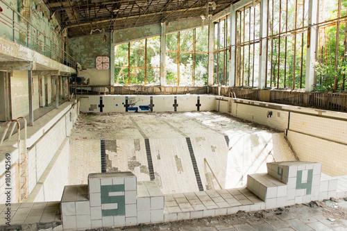 Fotografie, Obraz  Destroyed swimming pool in Chernobyl, Ukraine