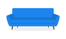 Sofa Icon Isolated On White Ba...