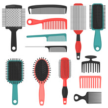 Different Hair Combs Color Ico...