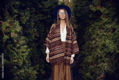 Poster Gypsy trendy young woman