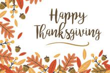 Mod Fall Leaves Happy Thanksgi...