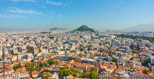 Staande foto Athene Panoramic view of Athens city