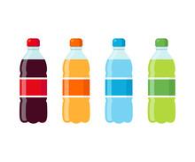 Soda Bottles Icon Set
