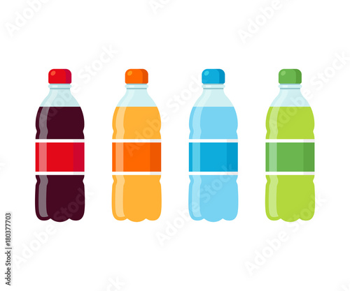 Photo Soda bottles icon set
