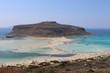 A beautiful view of blue Balos lagoon and beach in Crete Island, Greece.
