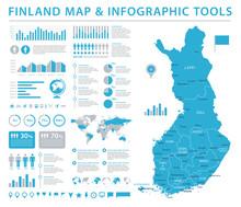 Finland Map - Detailed Info Gr...