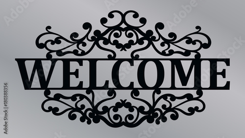 Stampa su Tela Welcome lace plate