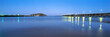 canvas print picture - A panoramic image of the Coffs Harbour Jetting in the Mid North Coast of NSW, Australia
