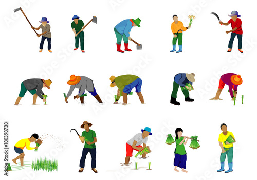 Fotomural lifestyle of farmer cartoon vector design