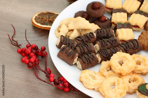Detail Photo Of Various Homemade Christmas Cookies Special Czech