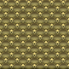 Fototapeta Art Deco Seamless Pattern Background. Vector