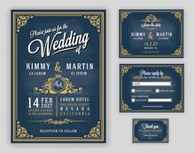 Vintage Luxurious Wedding Invi...