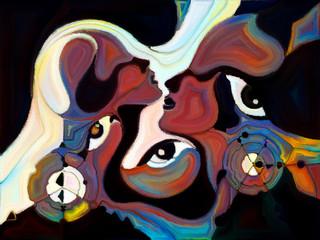 Fototapeta Abstrakcja Energy of Color Division