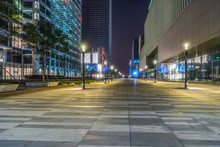 City Square, Business Financial District At Night