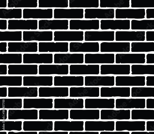 Photo Vector seamless pattern with brickwork silhouette