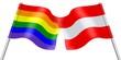 Flags. Rainbow and Austria