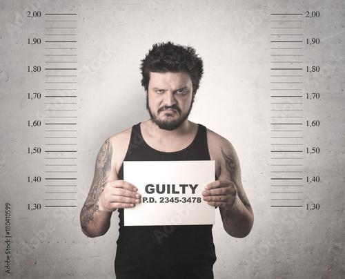 Fotografía Criminal offender.