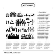 under construction in Industry info graphic icon
