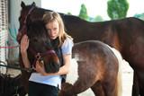 Girl On Horse Ranch