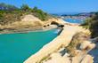 Corfu Island, Greece. The Channel of Love, Canal d'amour in Sidari.