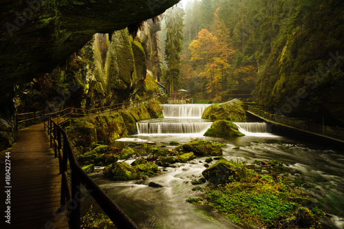 Edmund Gorge is located in the Czech Switzerland National Park Wallpaper Mural