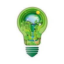 Save Energy Creative Idea Conc...