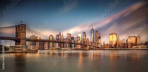 Fond de hotte en verre imprimé New York City Skyline von New York