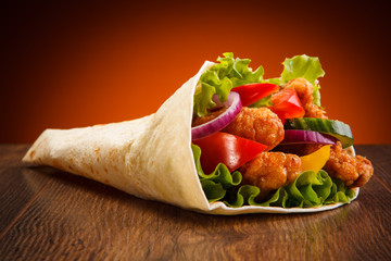 Kebab - grilled meat and ve...