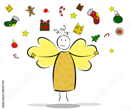 Bilder Christkind Christkind bzw. (Weihnachts ) Engel   Buy this stock illustration