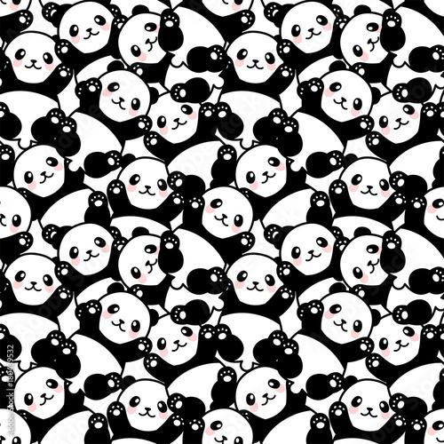 slicznej-pandy-bezszwowy-wzor-wektorowa-ilustracja