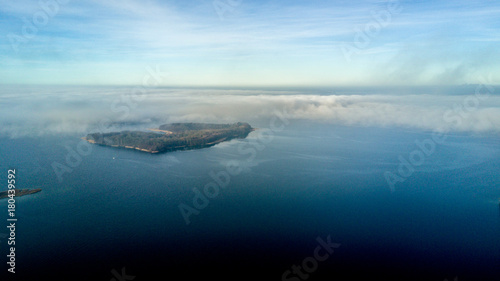 Fototapeta Insel Luftbild obraz na płótnie