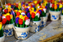 Traditional Wooden Tulips In L...