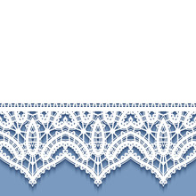Decorative Frame With Lace Bor...