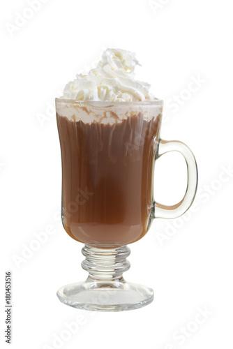 mug hot chocolate with whipped cream