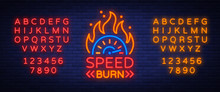 Speed Burn Logo Emblem Templat...