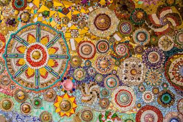 Panel Szklany Podświetlane Mozaika Wat Phasornkaew temple, Thailand